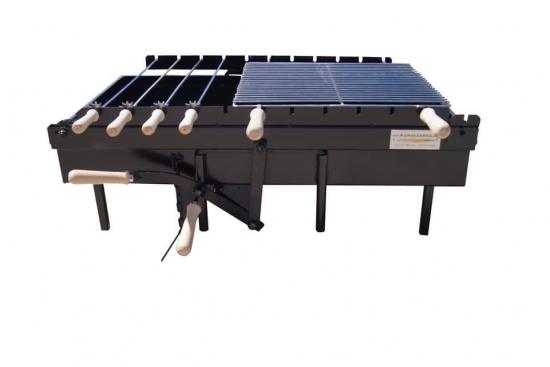 Gratar BBQ rotisor cu sistem pe lant, Inaltimea adjustabila