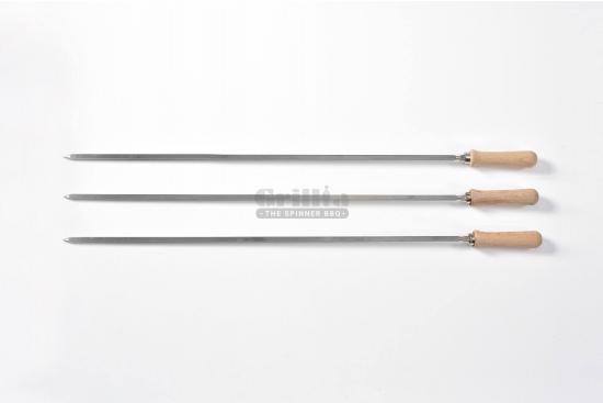 Tepusa rotiserie din inox, maner din lemn, compatibile cu BBQ GRL-M7R3