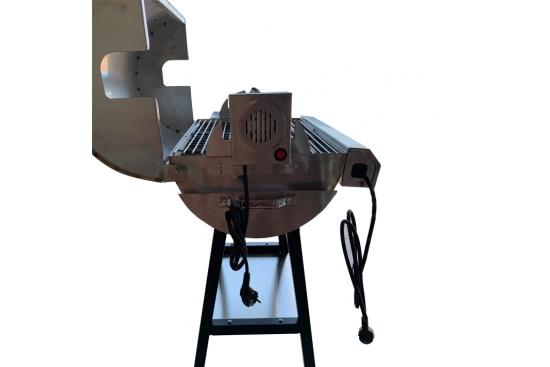 Gratar electric OVAL 3kw, INOX, 74X35X77, cu rotisor, motor si tepusa inclusa