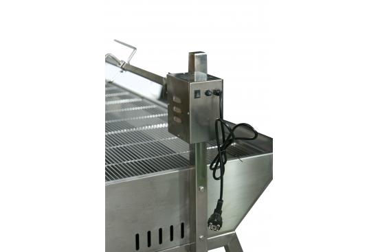 Protap rotisor profesional cu perete de protectie full otel inoxidabil 150cmx70cm