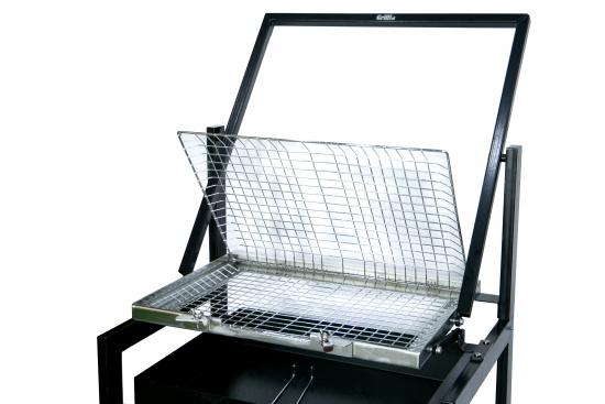 Gratar cu grilaj din otel inoxidabil rotativ, 60X40X75 cm