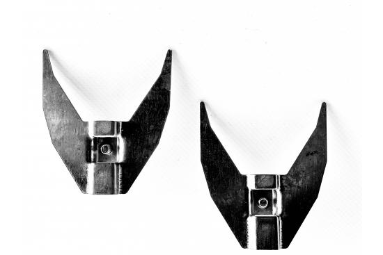 Set furca fixare carne rotiserie din tabla galvanizata compatibil cu tepusele GRL-1034/5