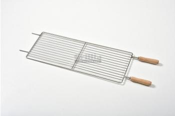 Gratar cu manere din lemn, otel inoxidabil, compatibil cu BBQ GRL-S11R3