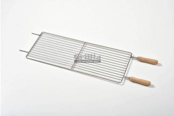 Gratar cu manere din lemn, otel inoxidabil, compatibil cu BBQ GRL-M7R3