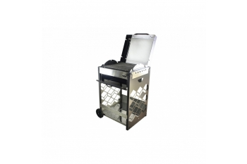 Gratar carbune 3D  INOX 55cm X 50cm, cu rotisor, motor si tepusa inclusa