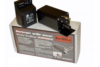 Motor electric profesional pentru gratar cu rotisor, viteza reglabila, alimentare la masina sau priza