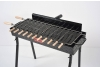 Gratar carbune, BBQ standard, 11 frigarui, rotiserie automata, grill traditional, 80cm